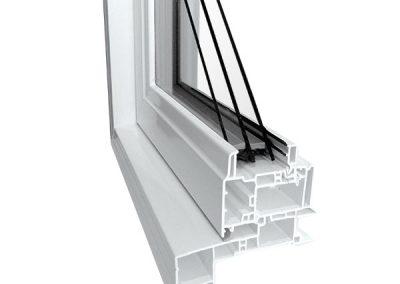 triple pane pvc window
