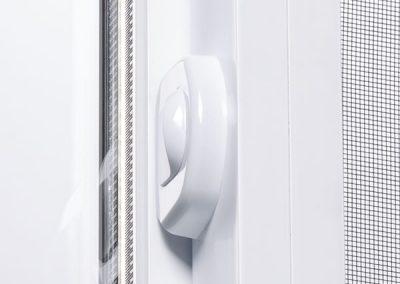 Window side slider automatic lock