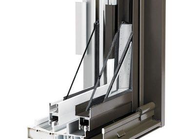 Aluminum window cross section